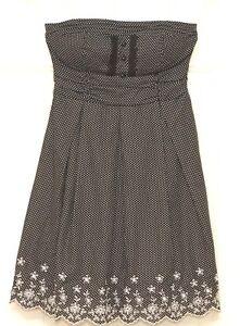 1367da5c723 Speechless Junior s Black   White Polka Dot Strapless Dress Size 10 ...