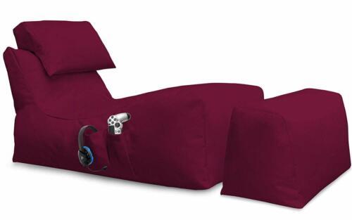 Liege Sitzsack Gaming Beanbag mit Hocker Indoor Sitzsäcke Outdoor 18 Farben Neu