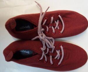 Allbirds Damenschuhe Wool Runner ROT with Cream Cream Cream Sole Größe 6     acd284