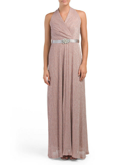 CHETTA B B B Surplice Embellished Maxi Dress NWT Sz4 c8cfb0
