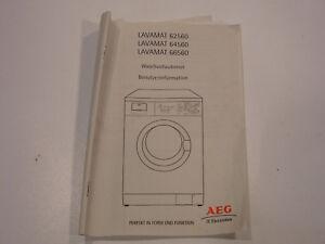 Bedienungsanleitung manual waschmaschine aeg lavamat