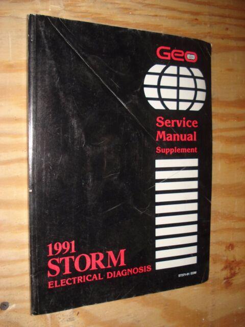 1991 Geo Storm Electrical Service Manual Original Gm