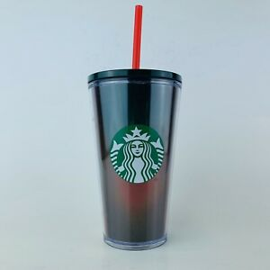 NEW-Starbucks-2019-Red-Green-Holographic-Winter-Holiday-Tumbler-Cold-Cup-16-oz