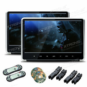 2x 11 6 1920x1080 hd screen auto kopfst tze monitor dvd. Black Bedroom Furniture Sets. Home Design Ideas