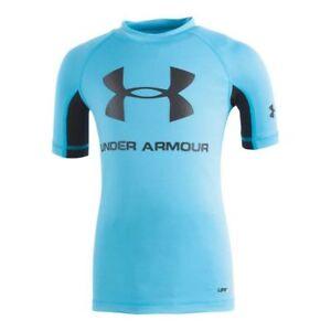 heroico Isaac Individualidad  UNDER ARMOUR Boy's UA Rashguard S/S Shirt ** ALPINE/BLACK - 6 ** NWT | eBay