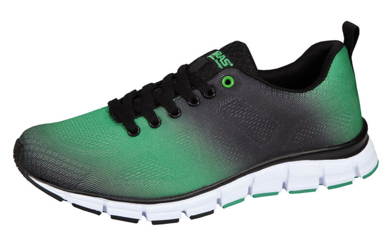 Boras Fashion Sports Unisex Sneaker Sprayed Green/black