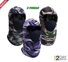 3 pack Pasamontañas Calavera Pasamontanas Militar Mascara Para El Frio de Moto