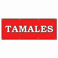 Tamales Food Fair Restaurant 2 Ft X 4 Ft Banner Sign W/4 Grommets