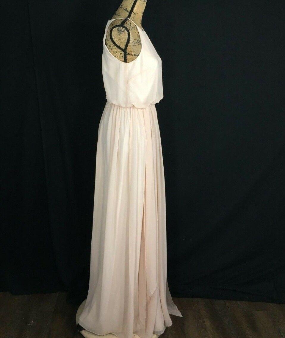 ed0dff416b79 ... Formal Evening Dress 0 0 0 XS Long Flowy Maxi Gown Nude bluesh women  MORGAN Party ...