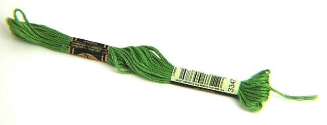 DMC Six Strand Embroidery Cotton 100 Gram Cone Yellow Green Light