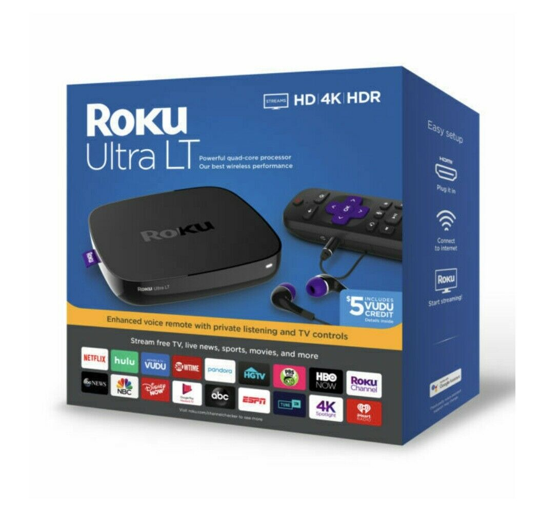 Roku Ultra LT (4662RW) HD 4K HDR Streaming Media Player BRAND NEW FACTORY SEALED brand factory hdr media new player roku sealed streaming ultra