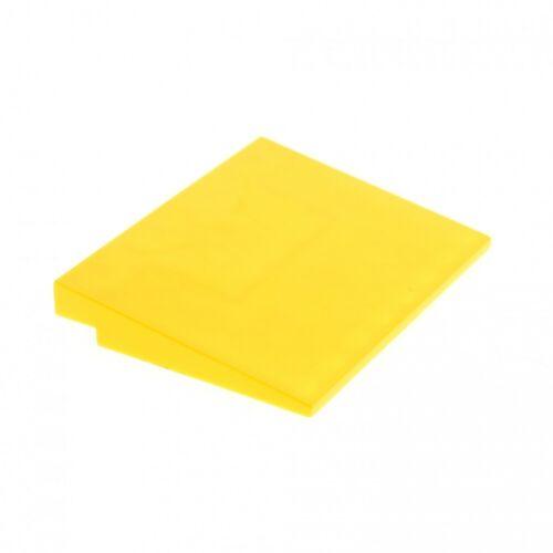 1x Lego Dach Stein gelb 6x8 Dach Rampe Schräg 10° Fliese Platte 4515