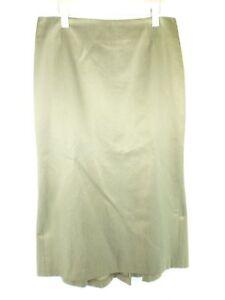 Barbara Lohmann Designer Women's Midi Skirt Valentina 40 Green With Silk Np 399