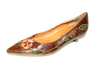 TAMARIS Pumps Kitten Heels Damen Schuhe 40 UK 6,5 braun spitz Retro ... bd40ad8dc7