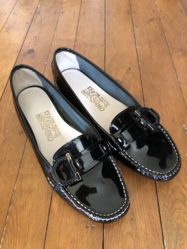 Uk Driving Mocassini Ferragamo Pumps Black 7 5 Shoes 5 x0r0tw