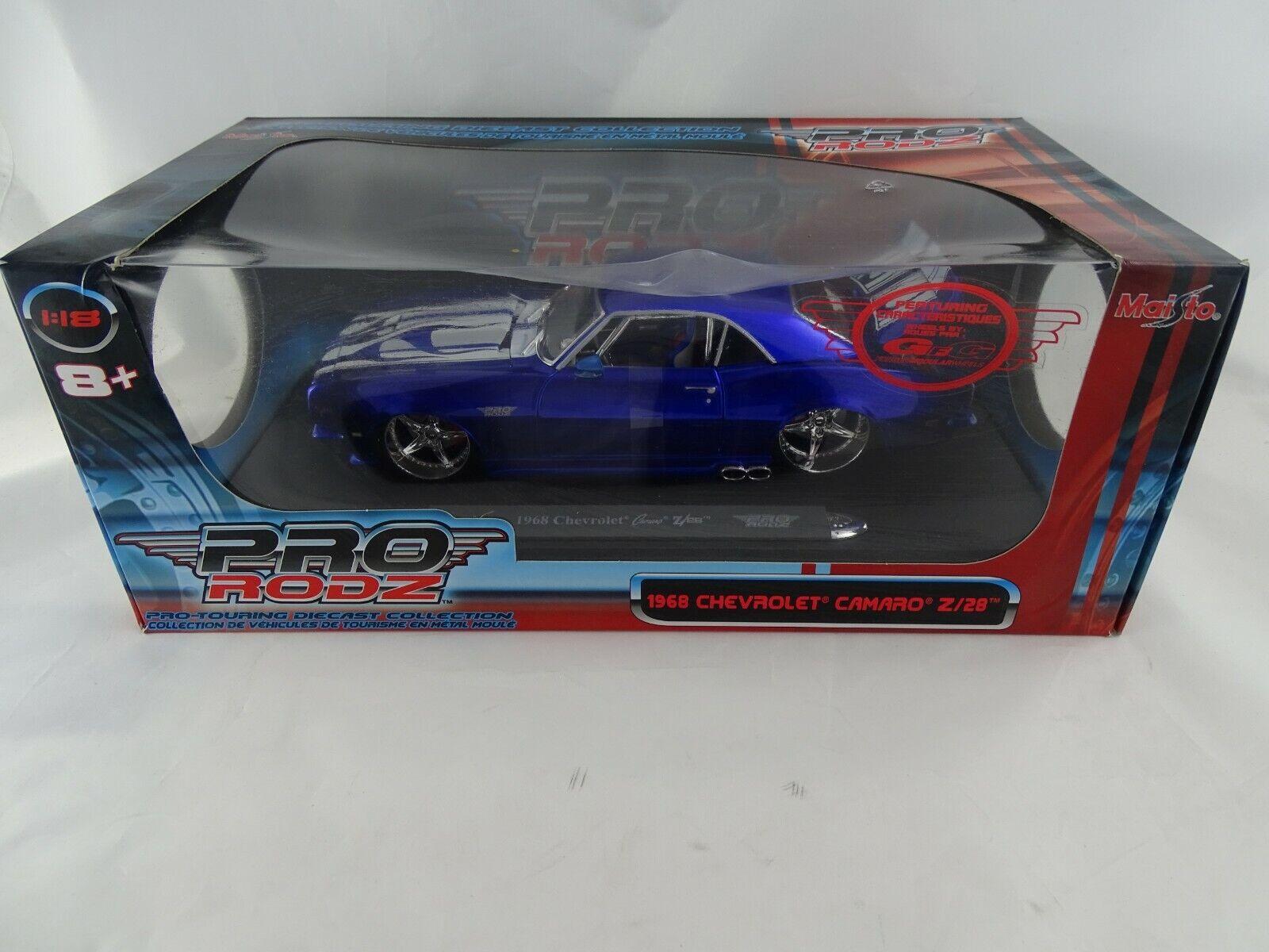 1 18 Maisto Pro  Rodz  31066 1968 Chevrolet Camaro Z 28 bleu    la qualité d'abord les consommateurs d'abord