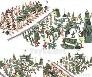 238-pcs-Military-Playset-Plastic-Toy-Soldier-Army-Men-5cm-Figures-amp-Accessories