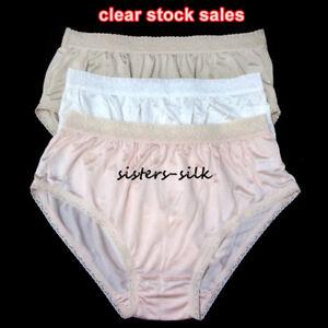 1386f43320f6 Womens Ladies 100% Pure Silk Knitted Brief Bikinis Undies Panties ...