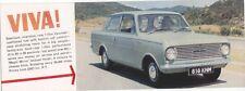 Vauxhall Viva HA 1963 Original UK Market Flyer Brochure Pub. No. V1462