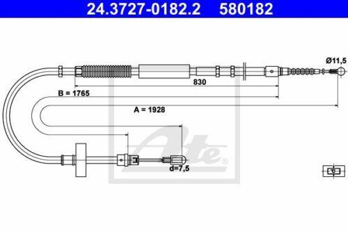 Handbremsseil Bremsseil Seilzug NEU ATE 24.3727-0182.2
