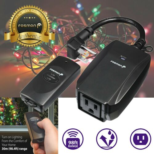 Waterproof Outdoor Christmas Light String LED Wireless Remote Control Outlet
