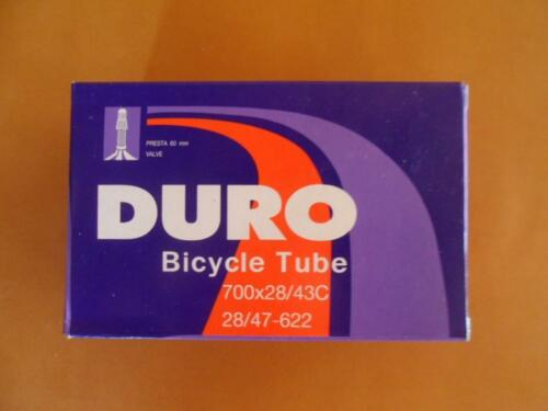 "700 X 35//43C 38c--27/"" X 1-3//8/"" 60mm PRESTA VALVE BICYCLE TUBE Road Fixie Bike"