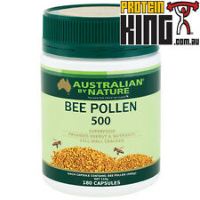 AUSTRALIAN BY NATURE BEE POLLEN 180 CAPS SUPER FOOD ENERGY NUTRIENTS PROTEIN ABN