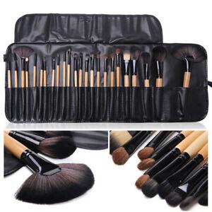 Pro 24 Pcs Makeup Brushes Cosmetic Tool Eyeshadow Powder Brush Set w/ Case AU