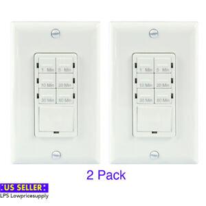 2pcs Bathroom Timer Switch For Exhaust Fan 1 30 Min Night Light Led Indicator Ebay