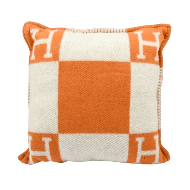 Cuscini Hermes.Hermes Cushion Avalon I Pm Signature H Orange Throw Pillow For