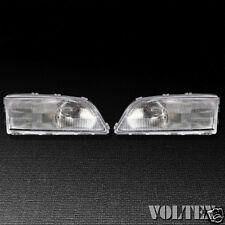 1998-2002 Volvo C70 S70 V70 Headlight Lamp Set of 2 Clear lens Halogen