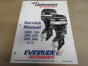 1995 johnson evinrude 125c 130 200 225 250 300 service. Black Bedroom Furniture Sets. Home Design Ideas