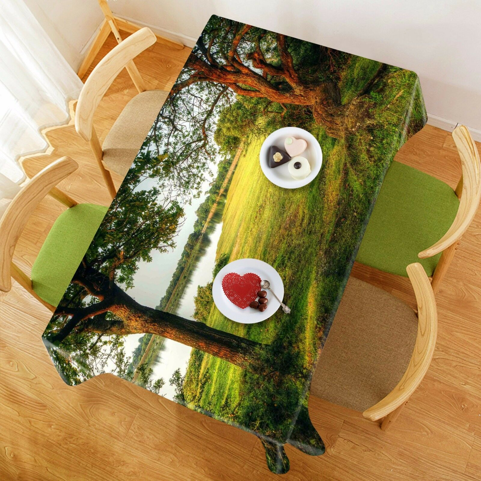 3D Tree 4925 Tablecloth Table Cover Cloth Birthday Party Event AJ WALLPAPER AU