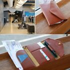 HOT Leather Credit Card Case Travel Passport Holder Organizer Bag Purse Wallet