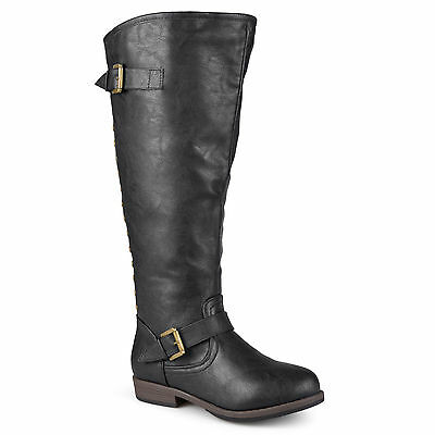 Journee Collection Women's Wide and Extra Wide-Calf Studded Knee-High Boots