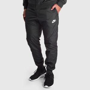 NEW-MENS-XL-2XL-NIKE-NSW-WINDRUNNER-RUNNING-PANTS-JOGGERS-BLACK-WHITE-898403-010