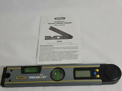 General Tools TS02 ToolSmart Bluetooth Connected Digital Angle Finder Level