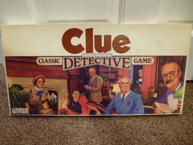Vintage pista de juego de mesa 1986 Usado en excelente condición completa detective clásico Parker Brojohers 45