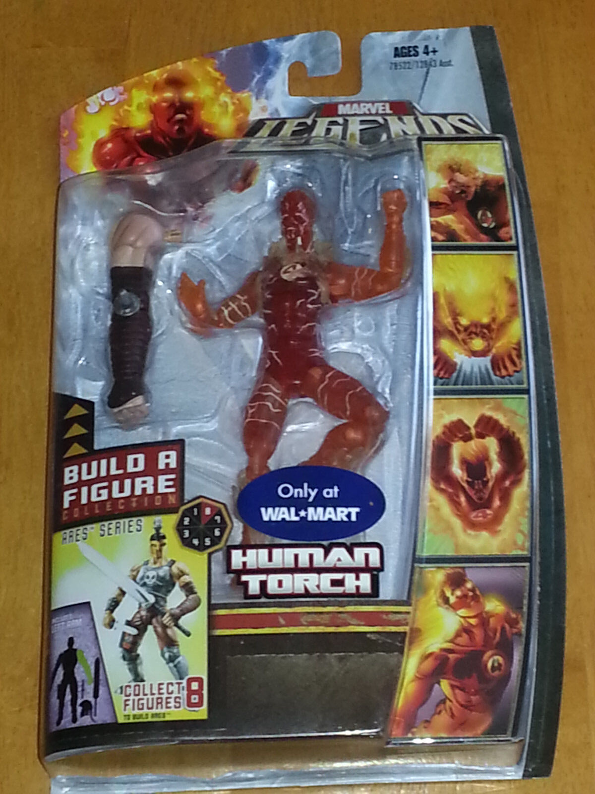 Marvel Legends NEW - HUMAN TORCH Nova Variant - Ares BAF Left Arm WALMART