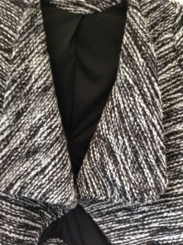 amp;m Fleck Waterfall H Size Wool S Ladies Mix Lined Black From Jacket zPwqB7w