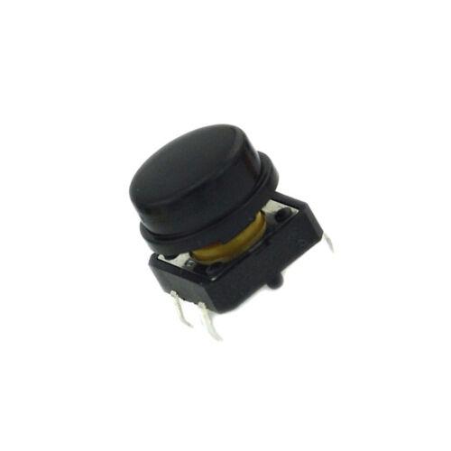 10PCS New B3F Tactile Switch Key Button Switch 12x12x7.3mm Black K9