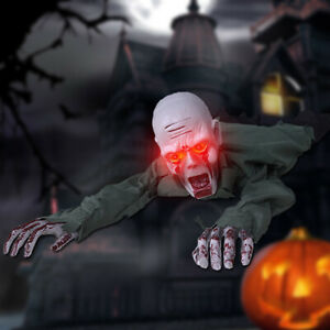 Horror Halloween Electric Crawling Zombie Ghost Toy Haunted House Decor Prop A Ebay