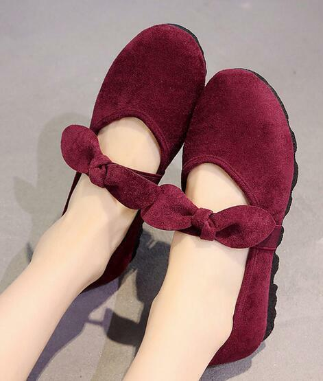 Womens Ladies Canvas Round Toe Bow Knot Flats Loafers Slip On Comfort Shoes E898