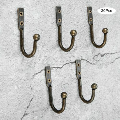 5//10//20pcs Vintage Hook Wall Door Bath Coat Handbag Hanger Holder Hooks Hardware