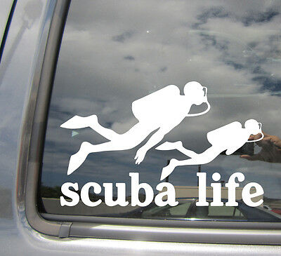 Dive Diving Scuba Life Car Auto Window Vinyl Die-Cut Decal Sticker 04001