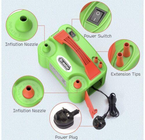 Balloon Air pump Electric Inflator Pump Dual Nozzle Inflator Blower Portable