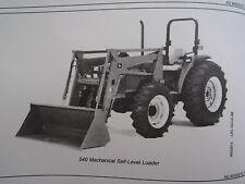 John Deere 520 Amp 540 Farm Tractor End Loader Operators Manual