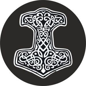 Autocollant-sticker-voiture-moto-vinyl-drapeau-marteau-thor-viking