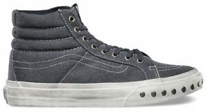 0c162fe52e Vans Off the Wall Sk8 Hi Slim Overwashed Blue Graphite Shoes Mens ...
