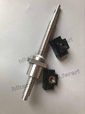 1 anti backlash 16mm ballscrew RM1605-600mm-C7+BK//BF12 end support bearing CNC